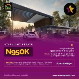 Residential Land for sale Starlight Estate Asegun Village Igbogun Road Ibeju Lekki Ise town Ibeju-Lekki Lagos