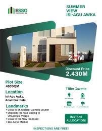 Residential Land for sale St Micheal Catholic Church Awka South Anambra