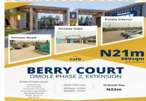 Commercial Land Land for sale Berry Court, Omole Phase 2 Extension Omole phase 2 Ojodu Lagos