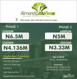 Residential Land for sale Almond And Vines Bolorunpelu Ibeju Lekki/epe Express Way. Lagos Eleko Ibeju-Lekki Lagos