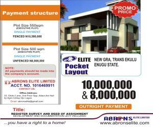 Residential Land Land for sale ELITE POCKET LAYOUT 1, NEW GRA TRANS EKULU ENUGU. Enugu Enugu