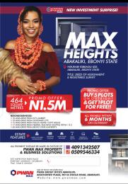 Mixed   Use Land Land for sale Max Height Estate Ndukabi igbeagu izzi Abakaliki Ebonyi