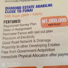 Serviced Residential Land Land for sale Diamond Estate Abakiliki Close to Funai  Abakaliki Ebonyi