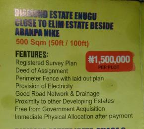 Mixed   Use Land Land for sale Diamond Estates Close To Elim Beside Abakpa Nike Enugu Enugu
