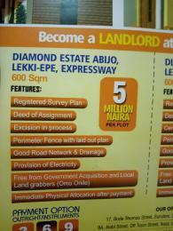 Serviced Residential Land Land for sale Diamond Estate Abijo Off Lekki Epe Expressway Abijo Ajah Lagos