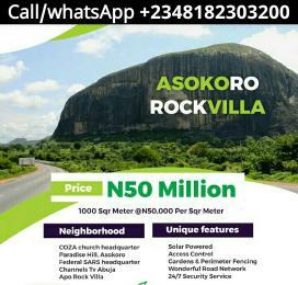 Residential Land Land for sale Asokoro Rock Villa Apo Abuja