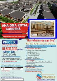 Mixed   Use Land Land for sale Land for Sale in Ana-Oma Royal Gardens Akanabu Village Umuoji Idemmili North Anambra State Idemili North Anambra