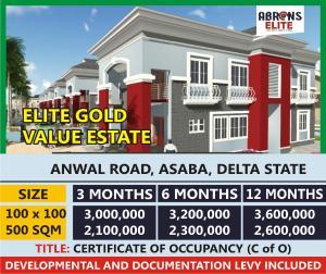 Residential Land for sale Elite Gold Value Estate Anwai Road Asaba Delta State Asaba Delta