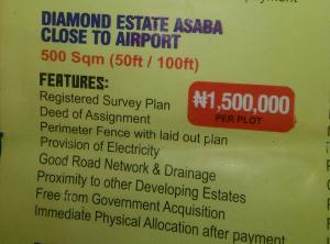 Mixed   Use Land Land for sale Diamond Estate Close To Asaba Airport Asaba Delta