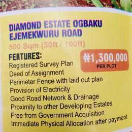Serviced Residential Land Land for sale Diamond Estate Ejemekwu Road Ogbaku  Owerri Imo