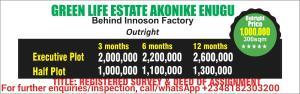 Residential Land Land for sale Behind Innoson Factory, Akonike, Enugu State Njikoka Anambra