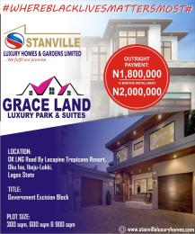Serviced Residential Land Land for sale OK LNG Road By Lacampine tropicana Resort Okun Use  Ise town Ibeju-Lekki Lagos