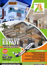 Residential Land Land for sale Rising Sun Estate In Isele, 7 Mins Drive To The Airport Asaba Delta