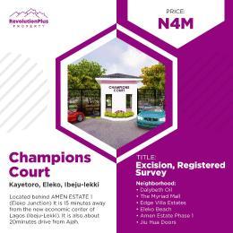 Residential Land Land for sale Champions Court Kayetoro Eleko Ibeju Lekki Ibeju-Lekki Lagos