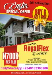 Commercial Land Land for sale 2 minutes drive from La Campaigne Tropicana Akodo Ise Ibeju-Lekki Lagos
