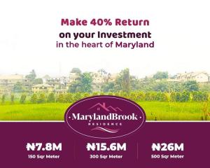 Serviced Residential Land Land for sale Maryland Brook Residence  Maryland Ikeja Lagos