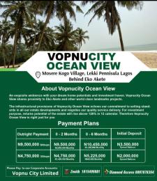 Residential Land Land for sale Vopnucity Ocean View In Mosere Kogo Village, Lekki Peninsula Behind Eko Akete Lekki Lagos