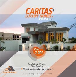 Residential Land Land for sale Caritas Luxury Homes Phase 4 Okun Igando Eleko Lagos State Eleko Ibeju-Lekki Lagos