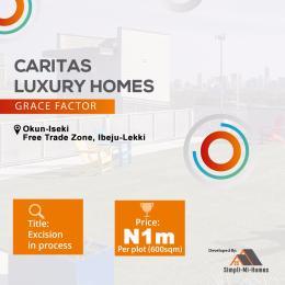 Residential Land Land for sale Caritas Luxury Homes Grace factor Okun iseki Eleko Lagos State Eleranigbe Ibeju-Lekki Lagos
