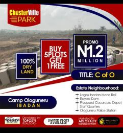 Residential Land Land for sale Ologuneru camp,5 Minutes Drive From the Train Station Eleyele Ibadan Oyo