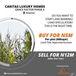 Residential Land Land for sale Caritas luxury homes grace factor phase 4 Sangotedo Ajah Lagos