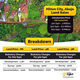 Residential Land for sale Hilton Park Has The Title R Of O With 24/7 Electricity And Security, Close To The Post Service Army Housing Estate And The Dss Estate. Kurudu Abuja