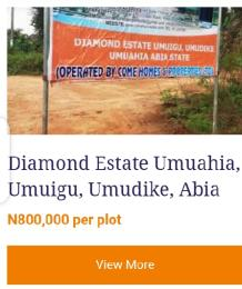 Residential Land Land for sale Diamond Estate Umuigu, umudike, Umuahia  Umuahia North Abia