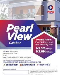 Residential Land Land for sale PEARL View Estate Ayanganse Akpabuyo LGA  Calabar Cross River