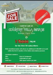 Mixed   Use Land Land for sale Country Villa Estate, Kobape - Abeokuta Oba Obafemi Owode Ogun