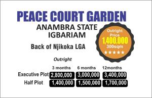 Serviced Residential Land Land for sale Igbariam, Back Njikoka Lga Njikoka Anambra