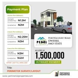 Residential Land Land for sale Pearl Gardens along Port Harcourt Road Buy and Build with instant allocation  Owerri Imo