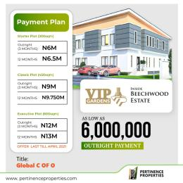 Mixed   Use Land Land for sale VIP Gardens with global c of o inside Beechwood Estate Buy and Build with instant allocation  Off Lekki-Epe Expressway Ajah Lagos