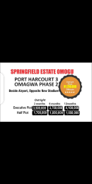 Mixed   Use Land Land for sale OMAGWA, BEHIND THE AIRPORT OPPOSITE NEW STADIUM  Ada George Port Harcourt Rivers