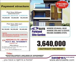 Serviced Residential Land Land for sale PARKLAND ELITE GARDEN NKWELLE EZUNAKA. ANAMBRA STATE. Onitsha South Anambra