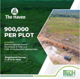 Land for sale Igbooye Epe Lagos