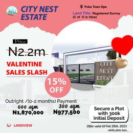 Serviced Residential Land Land for sale 1 minute From Atlantic Hall School Epe Lagos