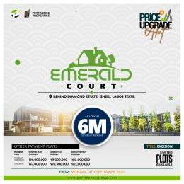 Land for sale Beside The Popular Diamond Estate Isheri Egbe/Idimu Lagos