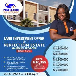 Serviced Residential Land for sale 2 Minutes Drive To Majidun Mile 12 Express Road Ebute Ikorodu Lagos