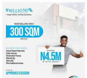 Residential Land Land for sale Trillionz Park Estate, Less Than 3Mins Drive From Lekki-Epe Expressway Alatise Ibeju-Lekki Lagos