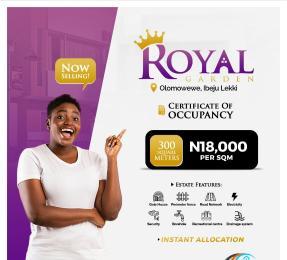 Residential Land Land for sale Royal Garden Estate. Directly Facing The Coastal Line. Free Trade Zone Ibeju-Lekki Lagos