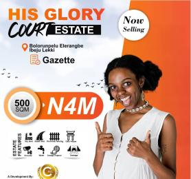 Land for sale His Glory Court. Eleranigbe Ibeju-Lekki Lagos