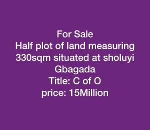 Residential Land Land for rent Soluyi Gbagada Lagos