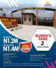 Residential Land Land for sale Queen's Park Estate. Opposite Nestle Company. Mowe Obafemi Owode Ogun