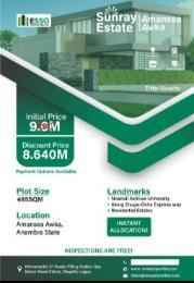 Mixed   Use Land for sale Sunray Estate Amansea, Close To Nnamdi Azikiwe University Awka North Anambra