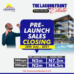 Residential Land for sale Lagoon Front Estate, Less Than 5mins Drive To The New Int., Airport. Epe Lagos