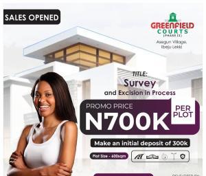 Residential Land Land for sale Greenfield Estate Phase2, Asegun Town Ibeju-Lekki Lagos