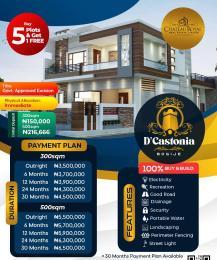 Residential Land Land for sale D'Castonia Estate. Located Same Road With Eko Star City, Bogije Ibeju-Lekki Lagos