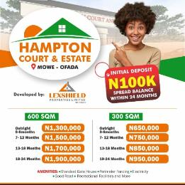Residential Land Land for sale Hampton Court Estate. Mowe Obafemi Owode Ogun