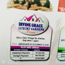 Commercial Land Land for sale ALATISE OKUN OJE VILLAGE  LaCampaigne Tropicana Ibeju-Lekki Lagos