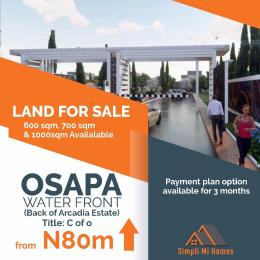 Serviced Residential Land Land for sale Osapa Water Front Osapa london Lekki Lagos